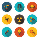 Icons sections of physics Stock Photo