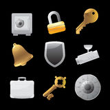 Icons for security Stock Photo