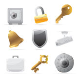 Icons for security Royalty Free Stock Photography