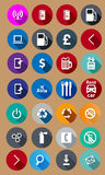 Icons for service in a flat style. Vector Stock Photos