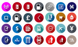 Icons for service in a flat style Stock Photos