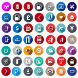 Icons for service in a flat style Royalty Free Stock Images