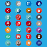 Icons for service in a flat style. Vector stock illustration