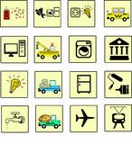 Icons services Stock Images