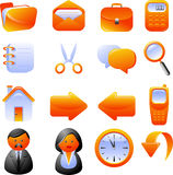 Icons set. Set of 16 vector icons. Isolated on white. EPS 8 Royalty Free Stock Photography