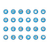 Icons set. Blue circle icons set (Everything depicted within this illustration is designed by me - Bsilvia royalty free illustration
