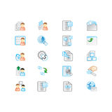 Icons set royalty free stock photos