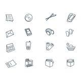 Icons set stock illustration