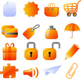 Icons set Stock Photos