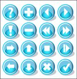Icons set. 16 Icons set for web Stock Illustration