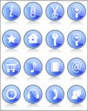 Icons set. 16 icons set for web Stock Images