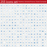 Icons set stock image