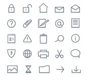 Icons  set. Vector set of elegant simple icons for common computer functions Stock Photo