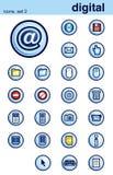 Icons set 2 Stock Image