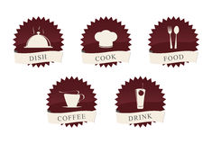 Icons set. For restaurant, cafe and bar Royalty Free Illustration
