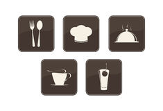 Icons set. For restaurant, cafe and bar Vector Illustration