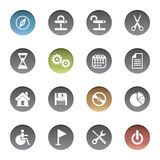 Icons set. Vector illustration of icons set Stock Photos