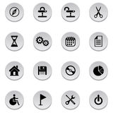 Icons set. Vector illustration of Icons set Stock Photography