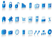 Icons set Stock Photo