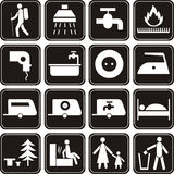 Icons set. Royalty Free Stock Photography
