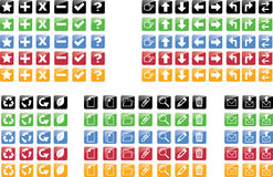 Icons set. Set of 28 icons with different background color Royalty Free Stock Image