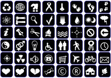 Icons-set Royalty Free Stock Photography