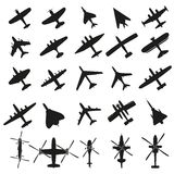 Icons set Airplanes Stock Image