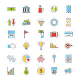 Icons set analytic and investments Royalty Free Stock Photos