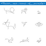 Icons set of animals Royalty Free Stock Images