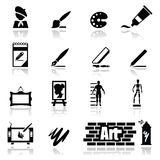 Icons set arts Royalty Free Stock Image