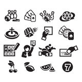 Icons set. Authors illustration in vector Stock Photography