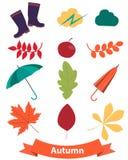 Icons set autumn Royalty Free Stock Photos