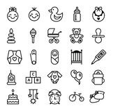 Icons set baby and accessories Royalty Free Stock Image
