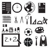 Icons set of back to school concept pictogram Royalty Free Stock Photography
