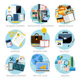 Icons set banners for business Royalty Free Stock Images