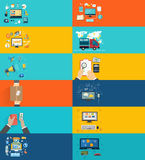 Icons set banners for business presenteshion Stock Image