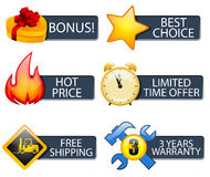 Icons set Royalty Free Stock Image