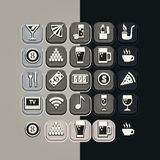 Icons set bar. Set of 20 icons for breakfast themes Royalty Free Illustration