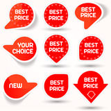 Icons set with best price Royalty Free Stock Image