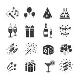 Icons set Birthday and Celebration Royalty Free Stock Images