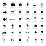 Icons set black vector illustration. Icons set black vector silhouette illustration Stock Photo