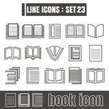 Icons set book line black Modern Style design elements Geometry Stock Photos