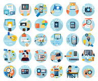 Icons set for business presenteshion Stock Images
