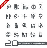 Icons Set of Business Strategy and Management -- Basics Royalty Free Stock Photos
