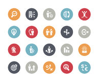 Icons Set of Business Strategy and Management -- Basics Stock Photography
