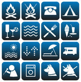 Icons set. Camping. Stock Image
