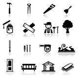 Icons set carpentry royalty free stock photography