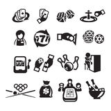 Icons set casino. Author's illustration in Royalty Free Stock Images