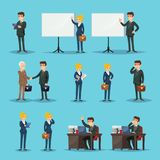 Setting of icons for businesspeople in office stock illustration