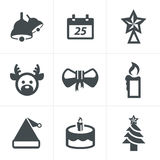 Icons set Christmas Royalty Free Stock Image